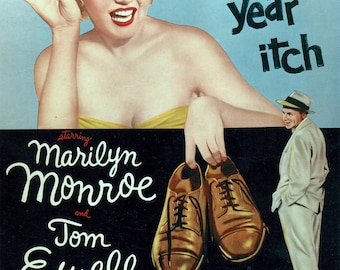 The Seven Year Itch Movie POSTER (1955) Romance/Comedy Marilyn Monroe
