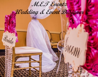 Chiavari Chair Covers- Hanging Crystals