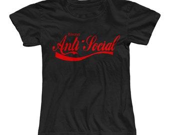 COKE Always Anti-Social Ladies T-shirt