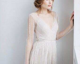 Wedding dress TOVEL, long sleeve wedding dress, boho wedding dress, fairy wedding dress, dress wedding, wedding, beach wedding dress
