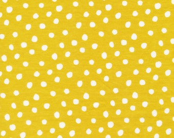 1/2 yard CLOUD9 KNITS spots   citron 139404 Organic