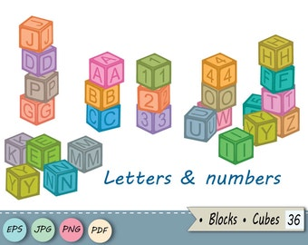 blocks letters and numbers cubes clip art baby toy digital overlay block alphabet nursery diy card cubes vector png