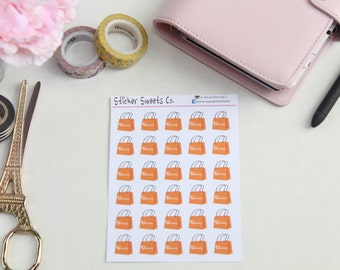 Orange Shopper Bags