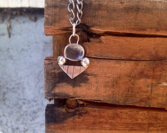 Geomteric Sterling Silver Necklace