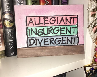 Divergent Trilogy Watercolor Small Canvas