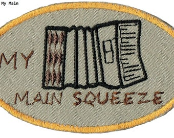 ACCORDION My Main Squeeze Iron On Patch