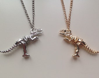 Dinosaur | T-Rex | Jurassic World | Jurassic Park | Fossil | Skeleton | Necklace
