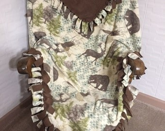Woodland Lodge Fleece Blanket