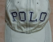 POLO SPORT by Ralph Lauren hat cap leather adjustable free size made in taiwan