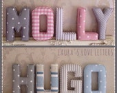 Fabric letters, name, fabric padded letters, A-Z, personalised, initial, name, alphabet, baby room, baby gift, nursery, baby, wall art