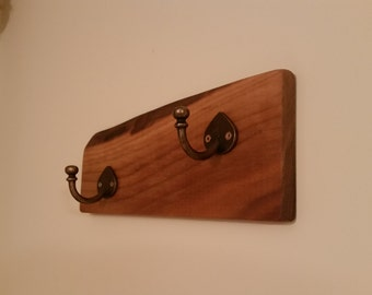 Clothes Hanger, Rustic Decor Hanger, Wood and Metal Christmas gift