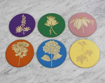 Maine Flower Coasters