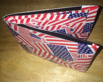 American flag duct tape wallet