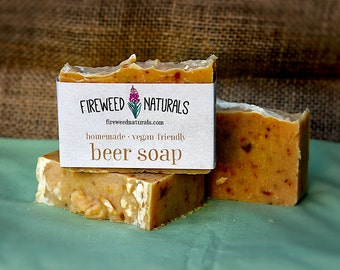 Beer Soap Bar - Vegan Friendly, All Natural, Cold Process