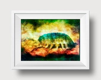 Critter - Monster- Alien - Bug - Digital Art Print 4x6inch