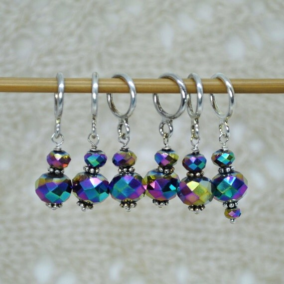 Using Stitch Markers In Lace Knitting : Stitch Markers Knitting Stitch Markers Snag by KnittersSerendipity
