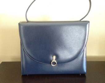 Vintage Navy Blue Leather Pocketbook EXCELLENT CONDITION