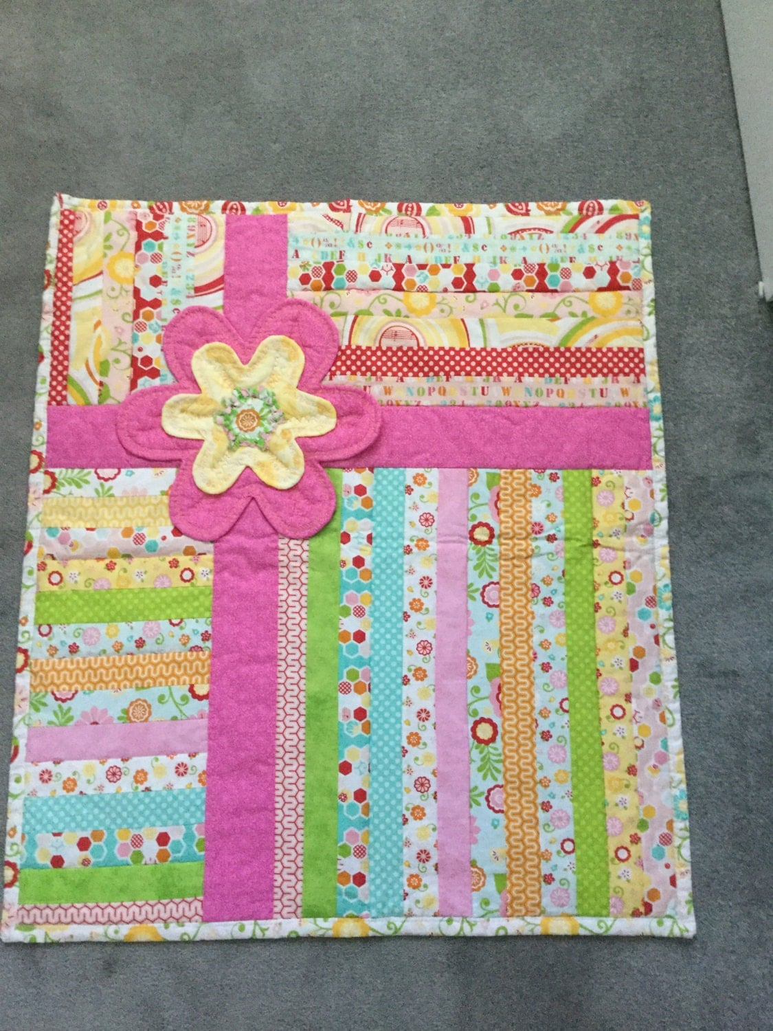 Baby Quilt That Looks Like A Present The Bow
