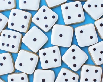 Bunco Dice Cookies -- Mini Bunco Cookies/Vegas Cookies