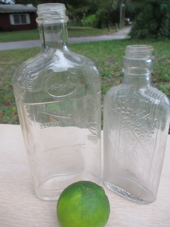 Decorative Glass Bottles Apothecary Bottles By StrawberrySalvage