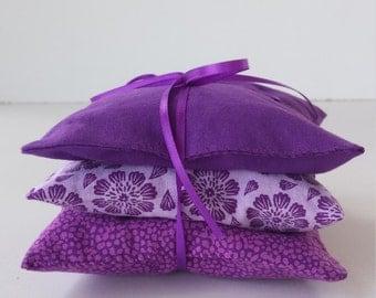 3 Lavender Sachets; Drawer Sachets; Sachets