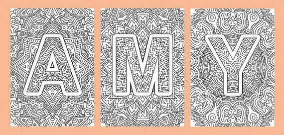 Items similar to Alphabet Adult Coloring Pages Instant