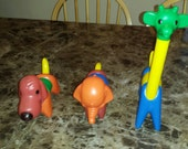 Vintage tupperware funny animals zoo it yourself complete set