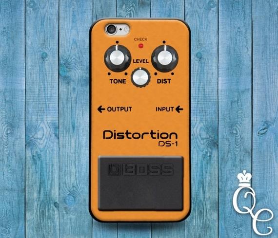 iPhone 4 4s 5 5s 5c SE 6 6s 7 plus iPod Touch 4th 5th 6th Generation Cute Orange Rock Music Band Distortion Pedal Guitar Case Cool Cover