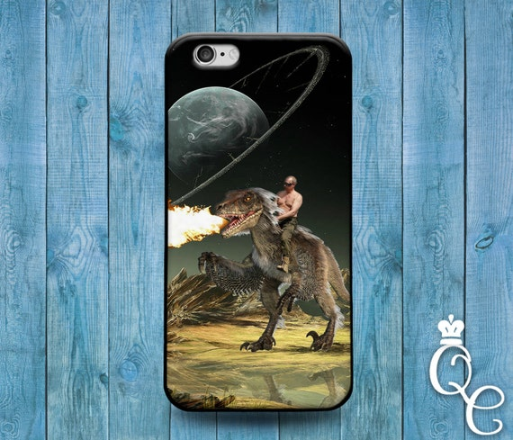 iPhone 4 4s 5 5s 5c SE 6 6s 7 plus + iPod Touch 4th 5th 6th Gen Funny Russian President Fire Breathing Dinosaur Ride Phone Cover Cute Case