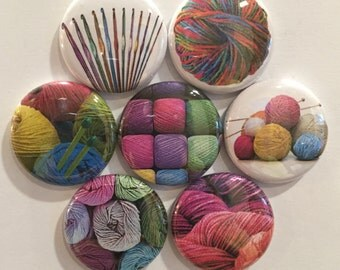 Yarn Magnets - set of 7