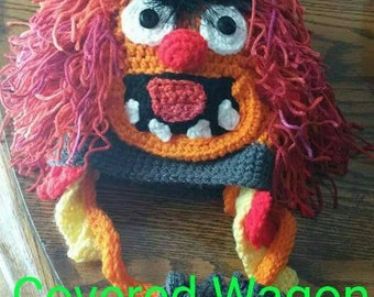 Crazy drummer/Animal/Muppets/3D Character hat