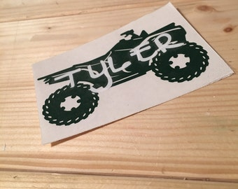 4 Wheeler Monogram Decal