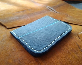 Minimalist wallet in premium leather Personalized  / Card Wallet / Front Pocket Wallet / 3rd Anniversary / father's day gift / Horween Essex