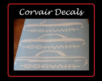 """Corvair Decals - 8"""" wide Chevy Corvair decals"""