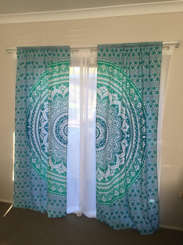 Mandala Curtains Mandala Tapestry Home Decor Feature Wall