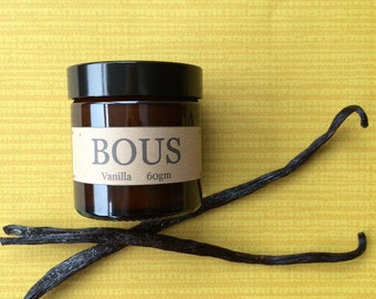 Vanilla - Hand Poured Soy Aromatherapy Candle - Wooden Wick- Small Batch Natural  - Travel Candle