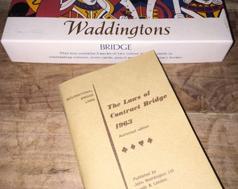 1960's Waddingtons Bridge playing cards. Made in England