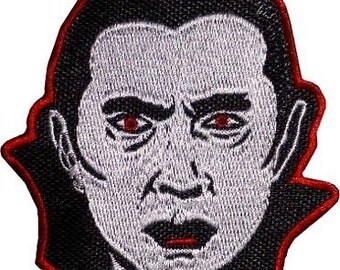 Count Dracula Patch Embroidered Iron / Sew on Badge Bela Lugosi Retro Horror Movie Universal Monsters Applique Souvenir Motif DIY Costume