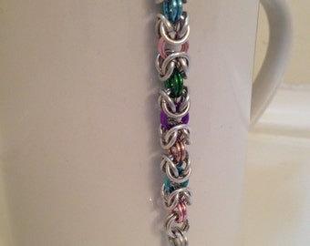 Multi-color Byzantine Chainmaille Bracelet