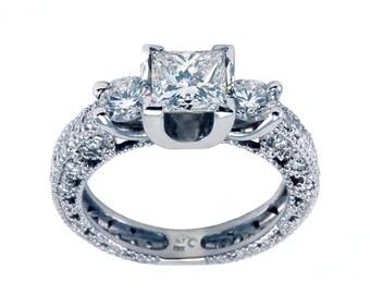 18K Diamond Engagement Ring 1.00ctw G-H VS