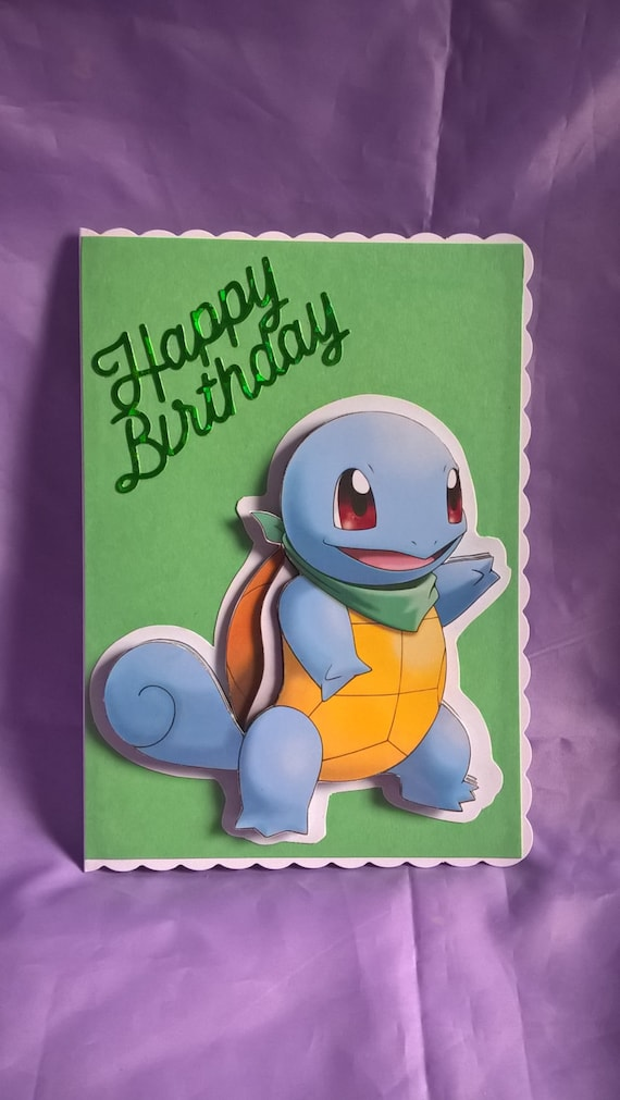 pokemon card  etsy, Birthday card