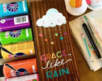 Grace Like Rain Kawaii Cloud Block {Rainbow}