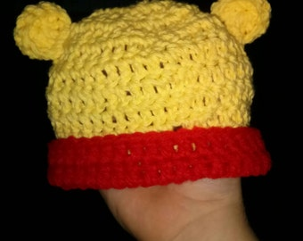 Crocheted Winnie the Pooh Hat