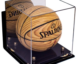 Mini Basketball Display Case with Wall Mount