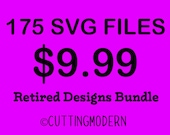 SALE- Retired Designs Sale  - Modern Svg Files - Huge Savings - Silhouette Cameo - Cricut- Vinyl Projects - Diy