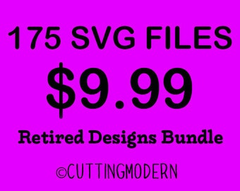 Retired Designs Sale from 2015  - Modern Svg Files - Huge Savings - Silhouette Cameo - Cricut- Vinyl Projects - Diy