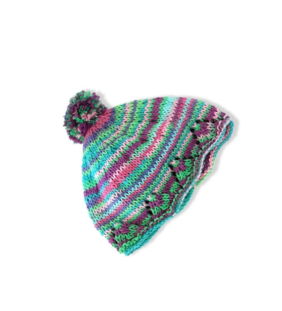 Baby bobble hat, Knitting pattern, Instant download, Baby ...