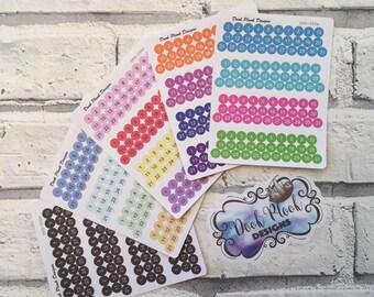 Quarter inch date dot stickers for Erin Condren, Plum Paper, Filofax, Kikki K (DPD550)