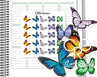 Butterfly Stickers | Planner Erin Condren Plum Planner Filofax Sticker