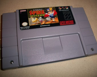 The Twisted Tales of Spike Mcfang Snes Super Nintendo RPG Reproduction Game + New Battery Holder + New Battery